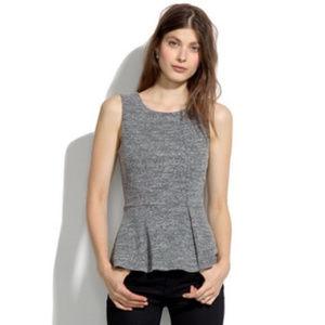 MADEWELL sleeveless sweatshirt peplum top